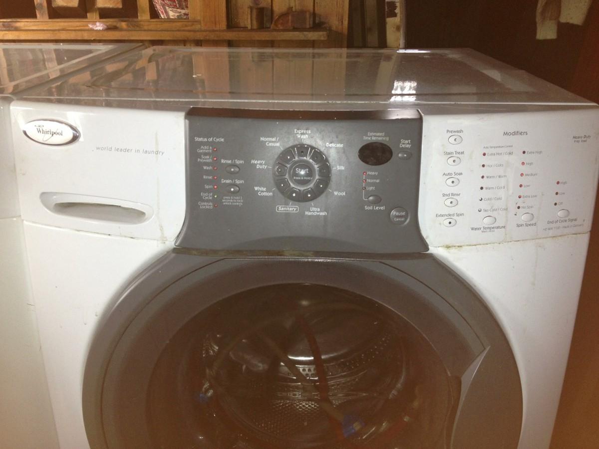 Washing Machine Controls : Secondhand laundry equipment front loading washing