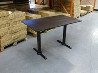 Rectangular wenge restaurant table
