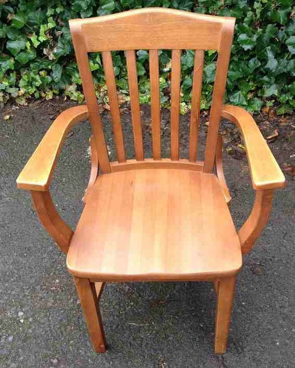 Solid wooden dining chairs