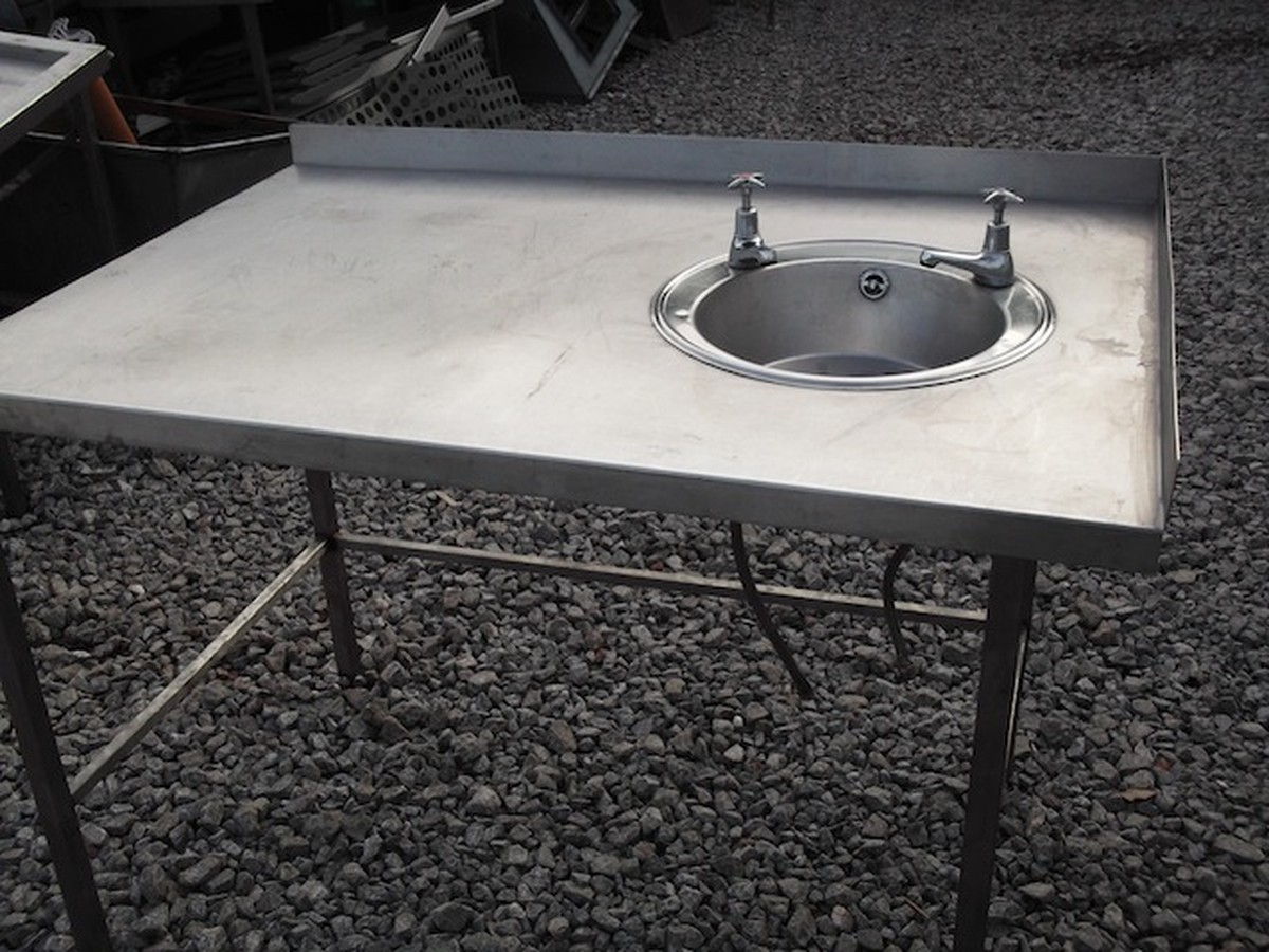 ... Sink Stainless Steel Table & Hand Sink (1847) - Bridgwater, Somerset