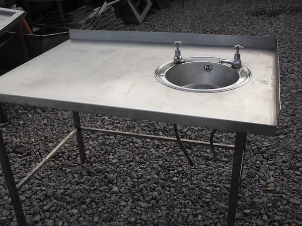 Stainless Steel Table & Hand Sink (1847)