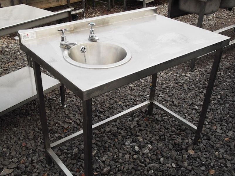 Equipment Sinks and Dishwashers Stainless Steel Table & Hand Sink ...