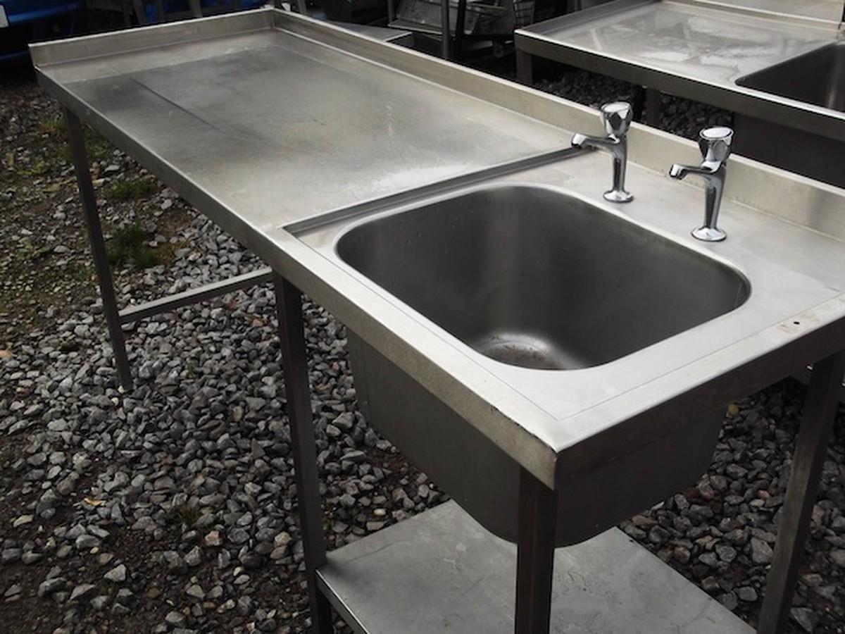 Used Stainless Sink : ... Stainless Steel Single Sink & Table (1858) - Bridgwater, Somerset