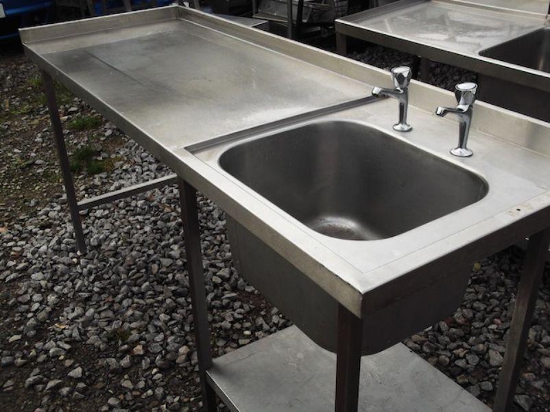 ... Stainless Steel Single Sink & Table (1858) - Bridgwater, Somerset