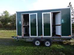 Green luxury 2+1 toilet trailer