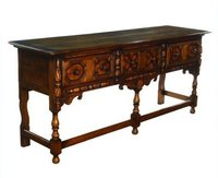 The Mill Collection 18thC Revival English Carved Oak Server Sideboard Dresser - Hereford