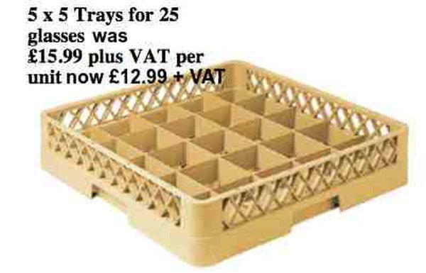 5 x 5 dish washer tray