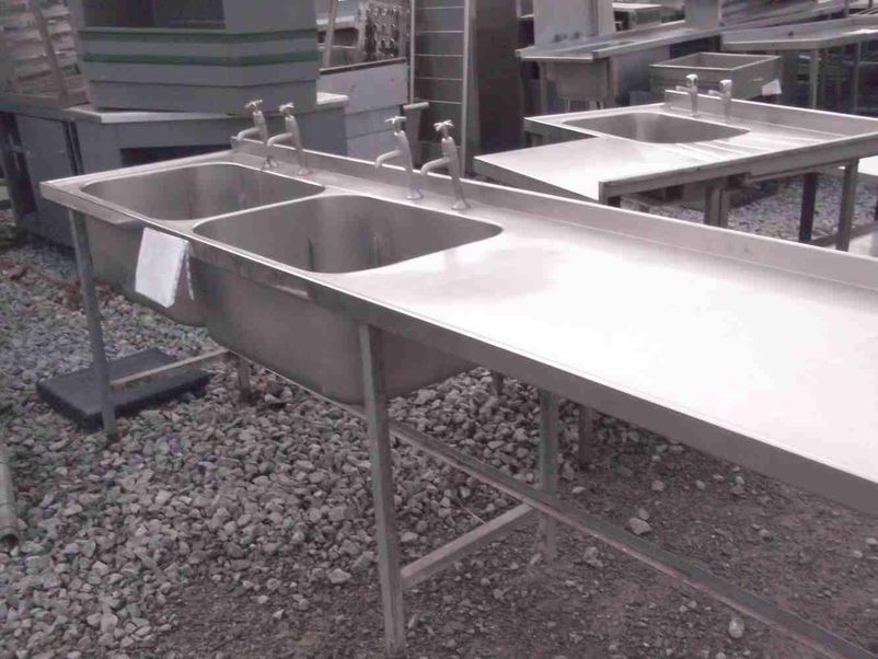 Used Stainless Sink : ... H2 Products - Somerset Stainless Steel Double Sink (1887) - Somerset