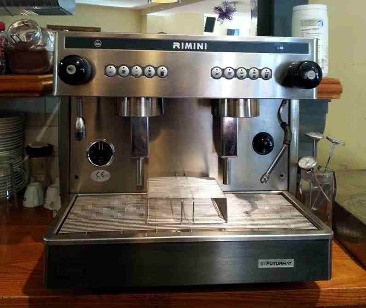 Electronic Coffee Machine Commercial Sale secondhand catering equipment 2 group espresso machines futurmat rimini commercial coffee machine