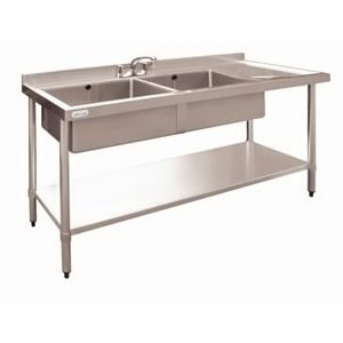 ... Double Sinks Double Stainless Steel Sink, R/H Drainer - Hampshire