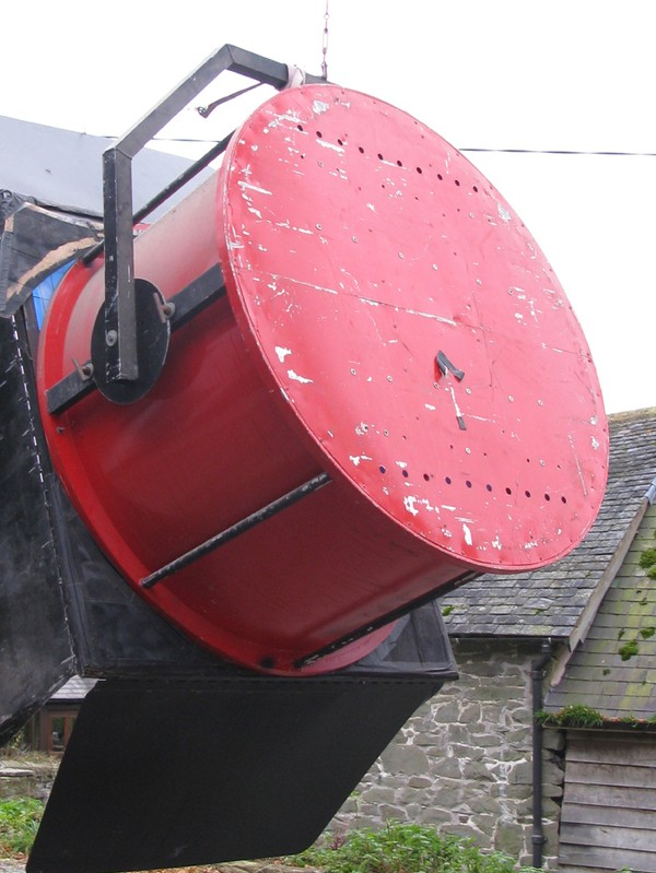 Rear side of searchlight