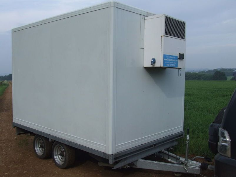 Portable Freezer Trailer : Refrigerated trailer for sale