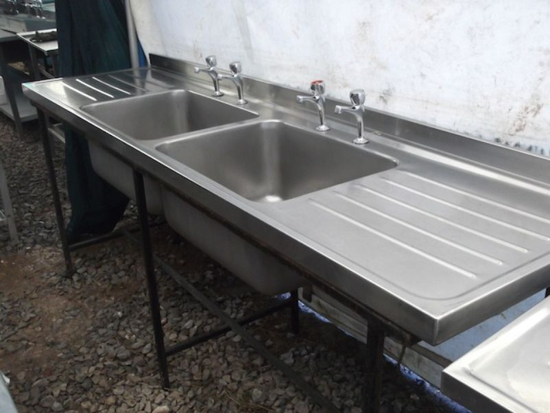 Used Stainless Sink : ... Sinks and Dishwashers Stainless Steel Double Sink (1991