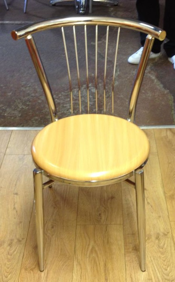 cafe chair with yellow chair