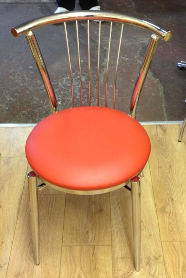 coffee chair with red seat