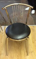 black seated coffee shop chair