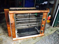 Rollergrill Rotisserie Oven RBE 120q with Handmade Brass Surround