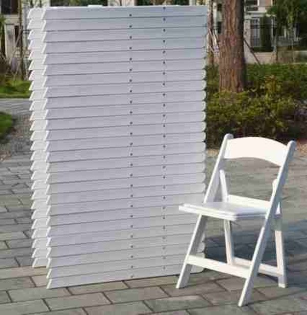 Folding white chairs for sale
