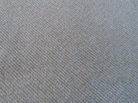 Blue/grey chevron pattern carpet