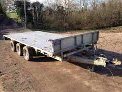 Ifor Williams 14Ft Tri Axle 3500kg Flat Trailer