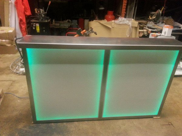 Mobile bar with LED lights