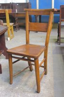 Nottingham Church Chapel High Back Edwardian Chair * (E)