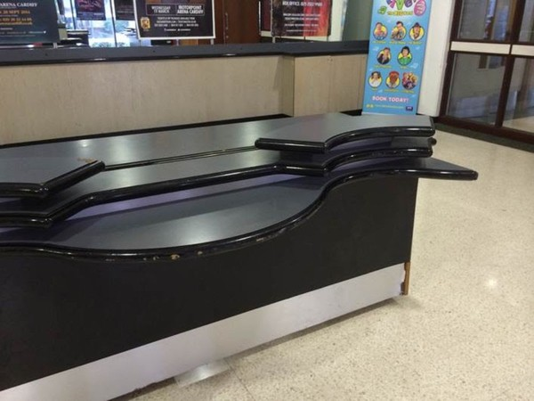 Curvy reception desk