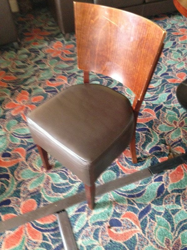 Leather and dark wood Dining chairs HIGH QUALITY