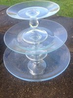3 Tier Glass Cake Stand
