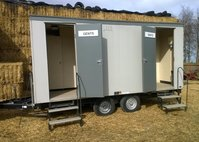 2x1 Mobile Toilet (Electric Mains) Gas Re-Circ