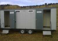 4x1 Mobile Toilet (Electric Mains) Gas Re-circ