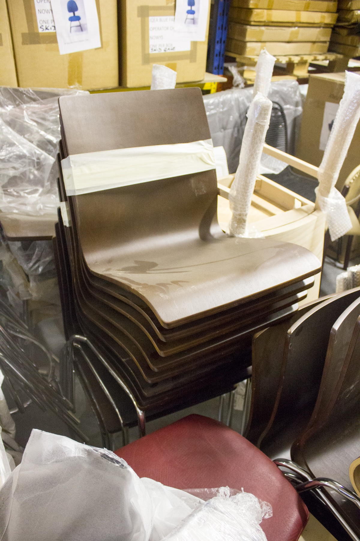 Secondhand hotel furniture dining chairs leather side
