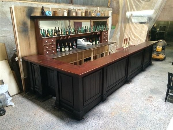 Secondhand vintage and reclaimed bar and pub for What to use for a bar top