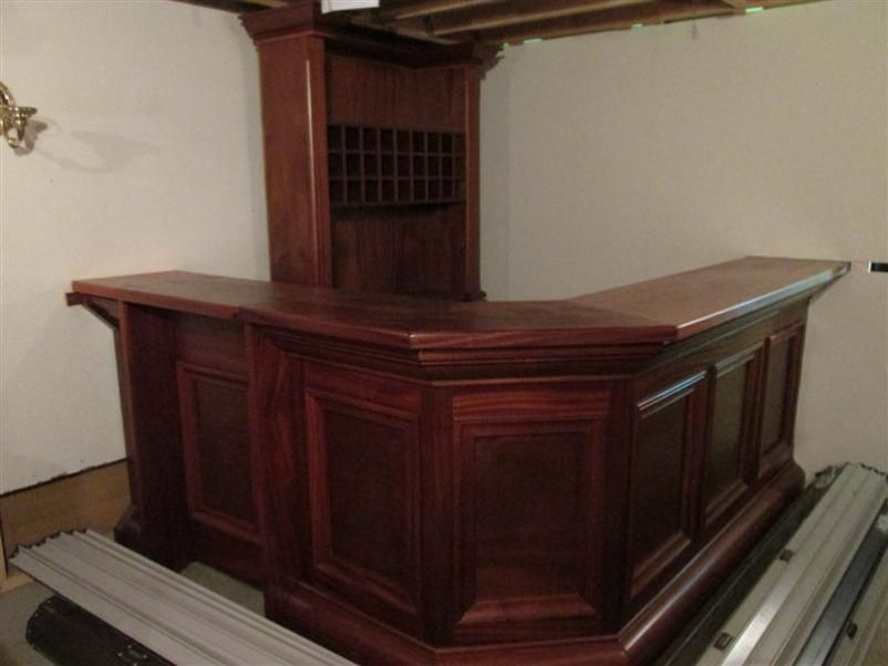 Counter For Sale : ... Vintage and Reclaimed Lounge and Bar Solid Mahogany Bar For Sale