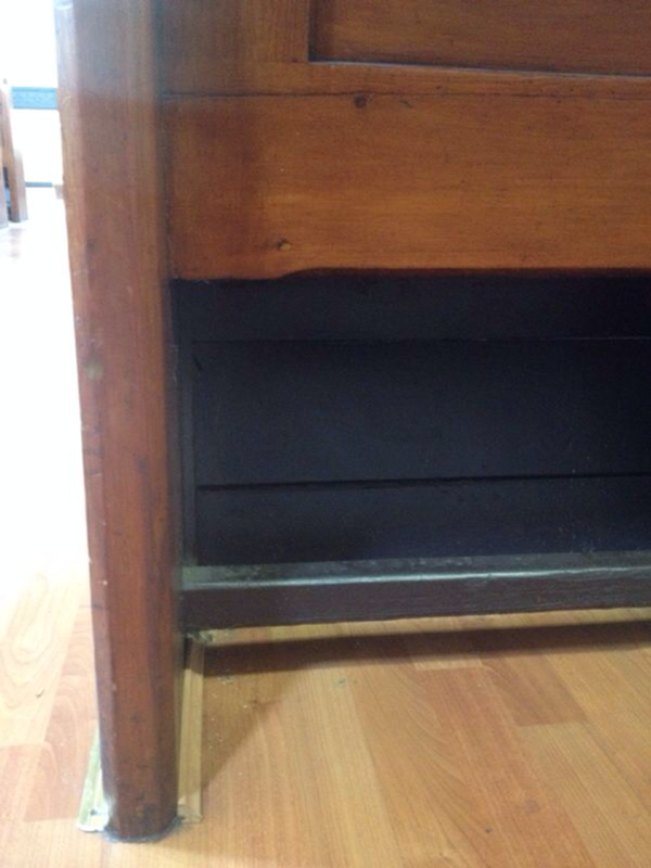 Legs of church pews