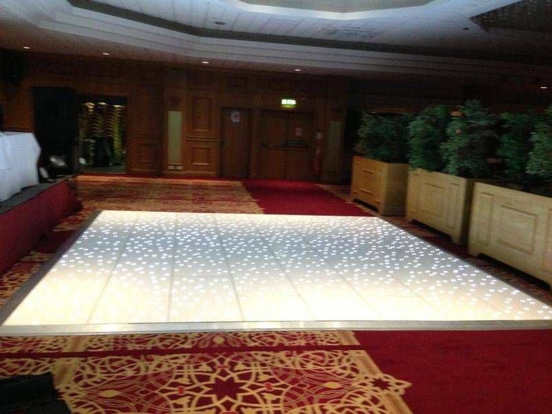 Curlew secondhand marquees dance floor white led for Home decor newtownards