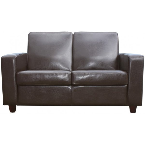 New Brown Leather Mayfair Commercial 2 Seater Sofas