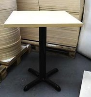 Brand New End of Line 600X600 ASH LAMINATE table tops 25mm thick complete with base
