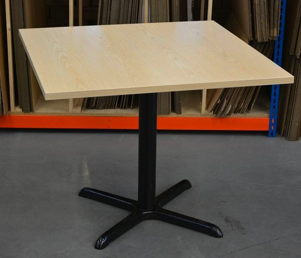Brand New End of Line 900X900 ASH LAMINATE table tops 25mm thick complete with base