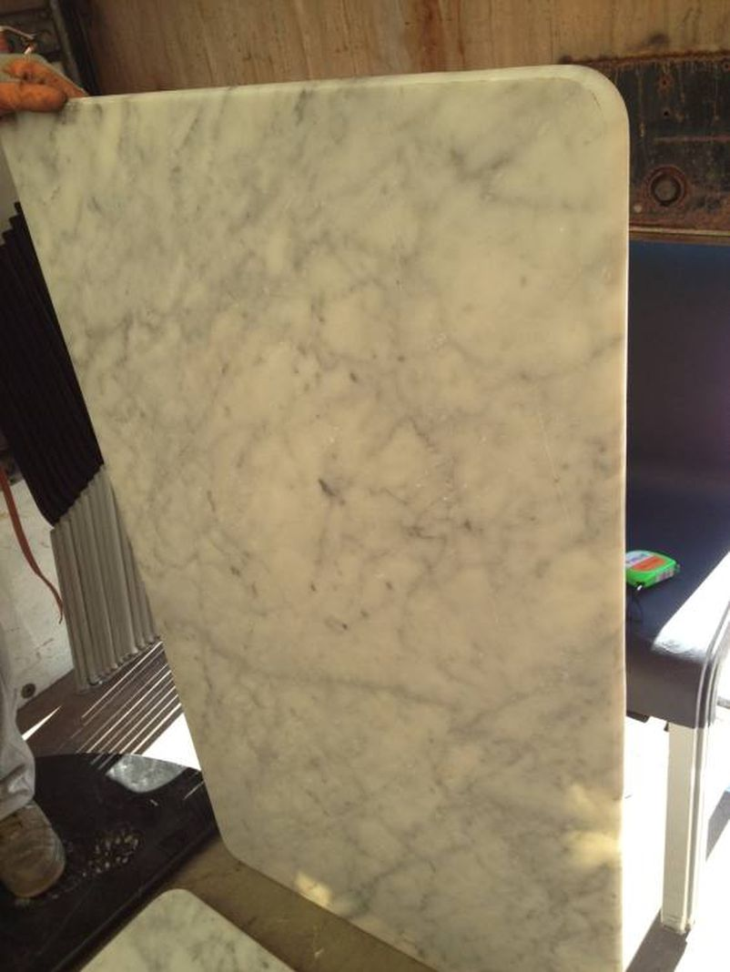 Tables table tops 2x white marble table tops rectangular london