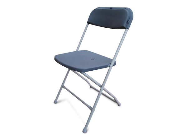 NEW Grey Folding Plastic Samsonite Style Chairs