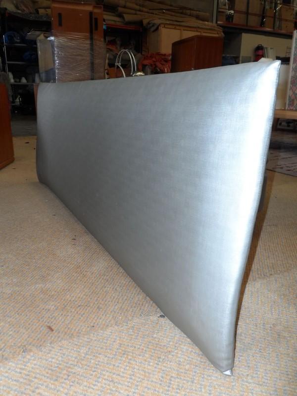 Silver padded headboard