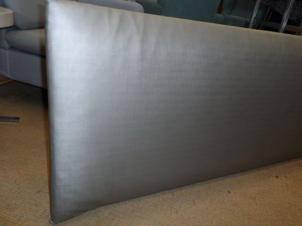 Silvered padded headboard