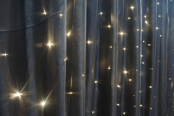 Luxury black fibre optic star cloth