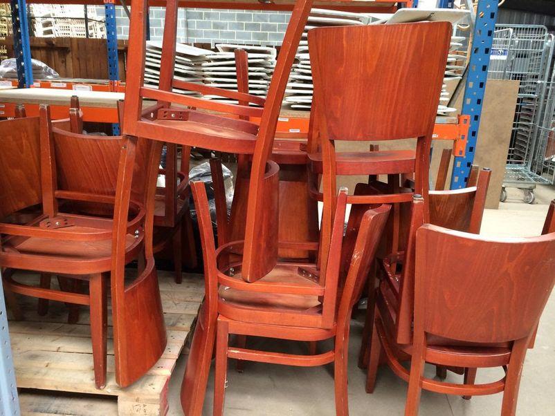 Secondhand Hotel Furniture Restaurant Chairs 26x Wooden Restaurant Chairs