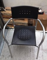 24x Black Plastic Chairs