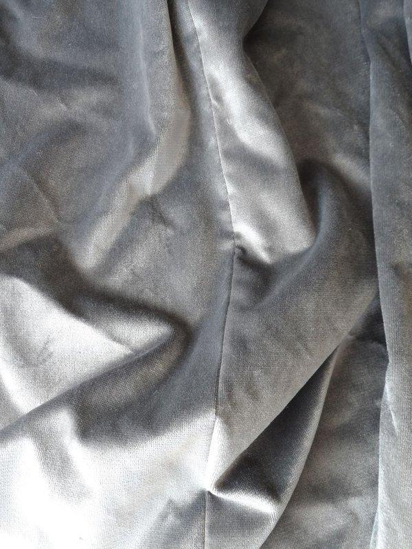 Silver/Grey Velvet Style Drapes