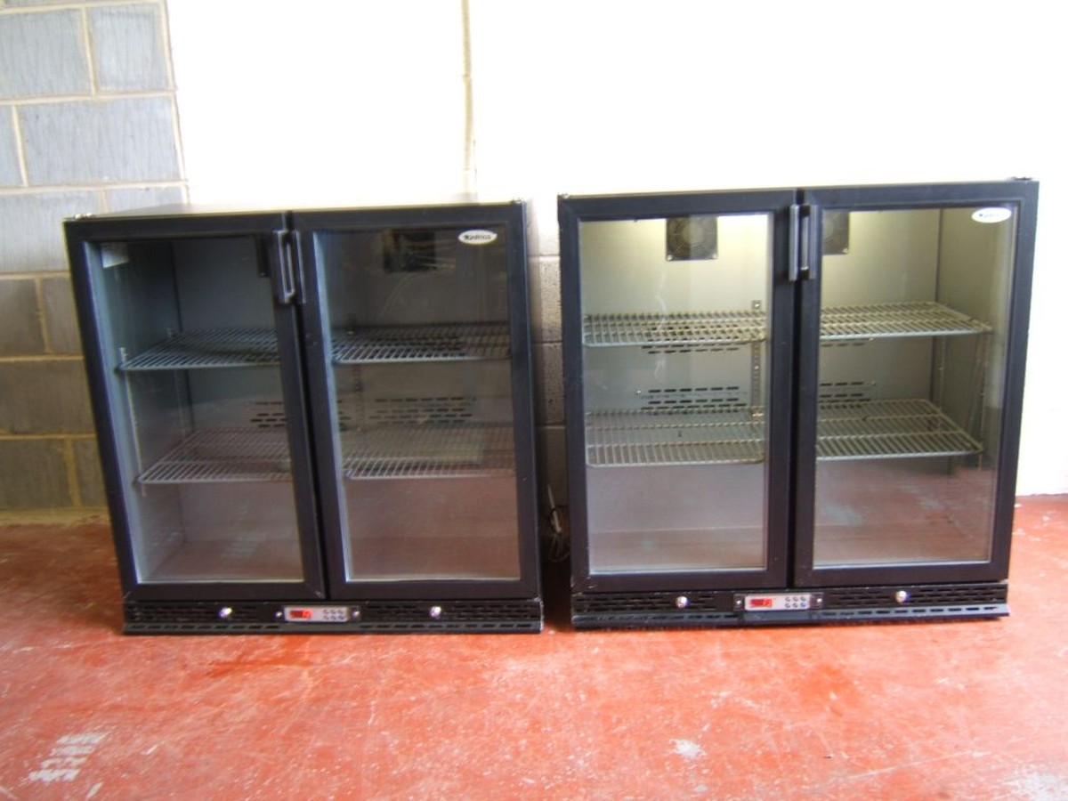 Double Door Drinks Fridge Awesome Secondhand Catering Equipment Drinks  Fridges 2X Infrico . 2017