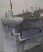 White hand wash sink