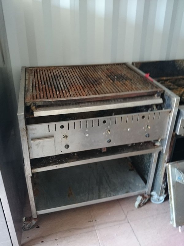 Commercial Gas Char Grill with Stand